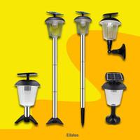 Wholesale Brushed Steel Lamp - LED Solar Street Lights 197cm 12LEDs IP65 ABS+Stainless Steel Panel Power Garden Path Lamps Outdoor Waterproof Home Stairway Yard Lighting