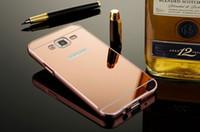 ingrosso coperchio in alluminio s4-100pcs caso specchio di lusso per Samsung Galaxy S3 S4 S5 S6 telaio in alluminio di metallo per Samsung S6 bordo bordo S7 Nota 2 coperchio posteriore in acrilico