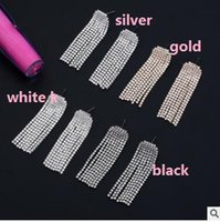 Wholesale Cheapest White Diamond - Newest cheapest full of diamond tassel big earrings wedding bride party nightClub tassel big love earrings two styles can choose
