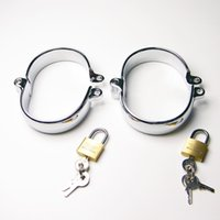 Wholesale Locking Wrist Shackles - Ankle cuffs With Lock Restraint Shackle Slave BDSM Gear Adult BDSM Sex Toy Shackle Bondage Gear Adult BDSM Fantasy women sex