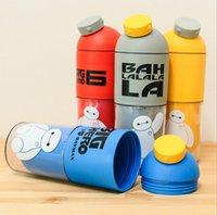 Atacado- Baymax Water Bottle Portable Sports Office Cup Copo de plástico para bebida de plástico