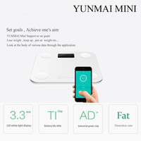 Wholesale Original YUNMAI MINI Bluetooth4 Smart Weighing Scale Support Android iOS7 Losing Weight Digital Scale Body Fat Scale