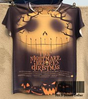 Wholesale Rock Tracks - Wholesale- Track Ship+Rock&Roll Punk T-shirt Top Tee Halloween The Nightmare Before Christmas Pumpkin Ghost 0329