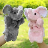 Wholesale Bedtimes Stories - Wholesale-Pink Grey Elephant Hand Puppet Baby Kids Child Soft Hand Puppet Doll Plush Hand Puppets Toys Bedtime Story Telling Toy