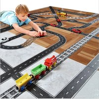 Wholesale Toy Tracks For Cars - Mideer 5cm Kids Road Washi Tape DIY Car Track Play Vehicle Train Railway Motorway Indoor Creative Toys for Children Sticky Paper