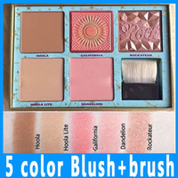 Wholesale Best Quality Makeup Brushes - Best quality in stock !! New CHEEK PARADE Limited Edition Highlighter Contour Highlight makeup powder blush Palette + Brush