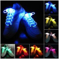 cuerdas de brillo al por mayor-30 unids (15 pares) Impermeable Light Up LED Sholelaces Fashion Flash Disco Party Brillante Noche Deportes Zapato Cordones Cuerdas Multicolores Luminoso