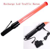 Wholesale glo sticks led - 54cm Rechargeable Style LED Traffic Baton Glo-sticks