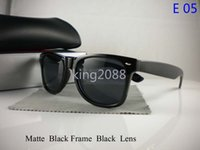 Wholesale Clear Sunglasses Uv Protection - 1Pcs New Designer Fashion Mens Womens Sunglasses UV Protection Beach Vintage Sport Sun glasses Retro All Black Eyewear With Original box