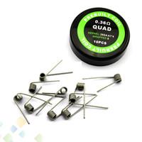 quad coil rda großhandel-QUAD Coil Heizdrähte Widerstand 0.36ohm verkauft von pc 28GA * 4 Widerstand Quad-Kabel Fit RDA RBA E Zigarette DHL frei