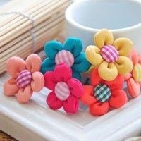 Wholesale Sunflower Wedding Supplies Wholesale - 30PCS lot SunFlower Pet Dog Hair Bows rope Accessories rubber bands Grooming Supplies Bowknot lot Handmade puppy hair ornaments PD094