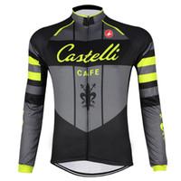 Wholesale Castelli Autumn - 2017 Pro Team Castelli Cycling Jerseys long sleeve mens tour de france Cycling Clothing spring Autumn Quick-Dry mtb bike shirt C0416