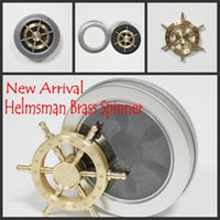 sports steering - Hot Brass Hexagon fidget spinner hexagonal hand spinner EDC Decompression Toy helmsman fidget spinner steering wheel design fidget toy