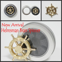 Wholesale Steering Spinners - Hot! Brass Hexagon fidget spinner hexagonal hand spinner EDC Decompression Toy helmsman fidget spinner steering wheel design fidget toy
