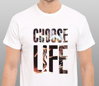 Wholesale Men S Office Shirts - Casual T Shirt Tops Discounts Men'S Choose Life Wham Tribute To George Michael Size: S-To-Xxl Crew Neck Short-Sleeve Office Tee