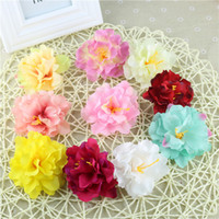 Wholesale Wholesale Silk Flowers Products - 100pcs Simulation Peony Flower Heads Artificial Flowers Ball Head Brooch Festival Home Wedding Decoration Flower Silk Product Code:115-1001