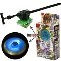 Wholesale Light Up Spin Top - boy toys fight against Beyblade Spinning Gyroscopes Light up top & Launcher