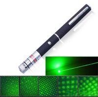 Wholesale 5in1 Green Laser Burn - Hot 5in1 Star Cap Pattern Green Laser Pointers 532nm 5mw Star Head Laser pointer pen Kaleidoscope 5mw laser burning pen led lasers Light