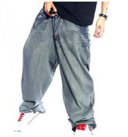 Wholesale Plaid Flannel Pants - Men Retro Baggy Jeans Vintage Garment Washed Denim Pants Male Hiphop Skateboarder Jeans Letters Printed Wide Leg Jeans