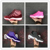 Wholesale Ladies Shoes 11 - High Quality Retro 11 Basketball Shoes Women 11s Retro 4 6 7 12 Retro 12 Pink Lady Athletics Sneakers