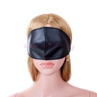 Wholesale Sex Eye Mask - Black Soft PU Leather Eye Mask Cover Nose Sexy Blindfold Fetish Bondage Adult Game Sex Products For Couples Flirt Sex Aid Party