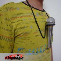 Wholesale Microphone Neck - Wholesale- Microphone Hands Free Magic Tricks Prop Stage Mic Holder Neck Stand