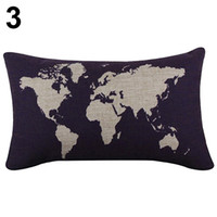 Wholesale Strip Pillow - Wholesale- The World Map Pattern Print Throw Pillow Case Long Strip Family PIlowsilp