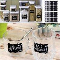 Wholesale Chalkboard Tags Wholesale - Chalk Pen Chalkboard Sticker Labels Vinyl Kitchen Jar Wall Cup Bottle Planner Mirror Decor Decals Tags b858