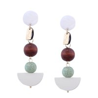 Euramerican Personalidade Hyperbole Geometria Stereo Round Ball WomEn Spell - colorido Rar Pin Design Quality Earrings