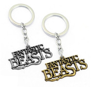 Wholesale Key Ring Findings - Fantastic Beasts and Where to Find Letter Keychain Key Chains Key Ring for Women Men Chritsmas Gift Harry Potter sequel
