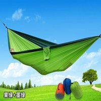 ingrosso sonno oscillante-Double Persons Travel Camping Amaca Camping Sleeping Bed Travel Outdoor Altalena Giardino Indoor Sleep Amache color arcobaleno