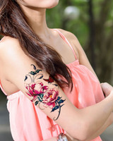 Wholesale Flower Temporary Tattoos Chinoiserie Waterproof Original Personality Trend Fashion Lovely Delicate Customized Women Bestie CP
