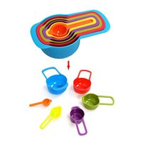 Wholesale Liquid Measuring Cups - Multicolored Plastic Measuring Cups with Size Engraved, 6-Piece Set: Essential Kitchen Bakeware Tools for Dry or Liquid Measure