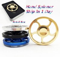 Wholesale mini steering wheel - Steering Wheel Metal fidget Spinners Fingertip Gyro Aiming Circle Hand Spinners Decompression Anxiety Toys EDC with Retail Box