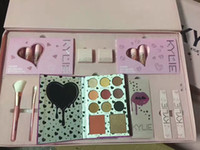Wholesale Variety Gift Boxes - New kylie Birthday gift box Eye shadow High light Lip Gloss A variety of different cosmetics