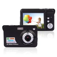 Wholesale Hd Digital Photo Frames - Mini Digital Camera 8x Digital Zoom Digital Photo Frame 2.7 inch 5MP COMS HD 18MP Resolution Video Recoding 3 Colors