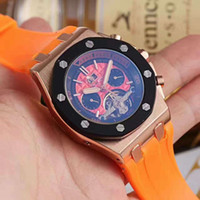 Wholesale Sport Quartz Japan Movt - Luxury Brand Mens Watch Royal Oak Offshore Limited Edition Lebron japan movt quartz replicas Chronograph black rubbler band Men Watches