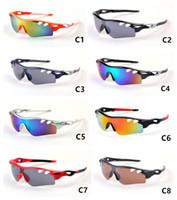 fahrrad-sonnenbrille großhandel-Bunte Männer Frauen Radfahren Brillen Outdoor Sunglass UV400 Fahrrad Radfahren Brille Fahrrad Sport Sonnenbrille Reiten Schutzbrillen