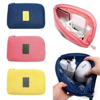 Wholesale Digital Portable Travel - Shockproof Travel Digital Storage Bag Portable USB Cable Charger Earphone Cosmetic Pouch Storage USB Drive Organizer Bag LJJK786
