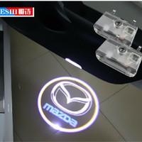 Wholesale Mazda Logo Lights - car door light ghost shadow welcome light logo projector emblem For Mazda 6 Atenza 2014-2015