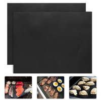 Wholesale Barbecue Non stick BBQ Grill Mats Baking Liner mm Thick Ptfe Cooking Microwave Oven Pad Reusable Teflon Sheet