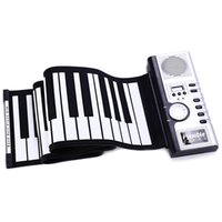 Portable 61 chiavi di spessore Flessibile elettronico Roll Up Piano MIDI Soft Keyboard Piano tastiera in gomma siliconica High Quality + NB