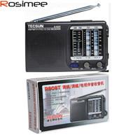 телевизионное вещание оптовых-Wholesale-Original TECSUN R-909T R909T FM / MW TV Sound MultiBands Radio Receiver Broadcast Built-In Speaker R909T FM radio Digital Demod