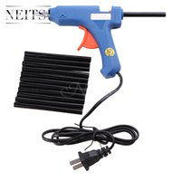 Wholesale Wholesale Glue Gun Sticks - Neitsi Hair Extensions Tools 1Pcs 20W USA Plug Blue Glue Gun + 12PCS Keratin Glue Sticks Professional For Hair Extensions Apply