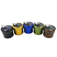 Wholesale cigarette smoke detectors resale online - New arrivals mm CNC Metal grinder tobacco smoke cigarette detector grinding smoke Tobacco sharpstone grinder with Hand Shank