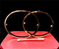 estilo dos braceletes do ouro venda por atacado-Novo estilo homens e mulheres Amor pulseiras de parafuso de prata rosa pulseira de ouro com chave de fenda Pulseira para amantes de Jóias