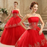 Wholesale Tulle Strapless Ball Gown China - Vestido de noiva Strapless Wedding Dress Lace Tulle Wedding Gowns A-Line Cheap Wedding Dresses China Bridal Gowns