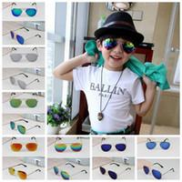 Wholesale Kids Beach Sunglasses - Kids Mirror Sunglasses Boys Fashion Sun Glasses Children Beach Eyewear UV Protective Eyeglasses Baby Fashion Sunshades Glasses 8 Designs G89