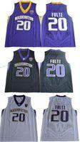 Wholesale Cheap Blacks Shirt - 2017 Washington Huskies Markelle Fultz College Basketball Jersey Cheap #20 Markelle Fultz Black White Purple Shirts University Jerseys Mens