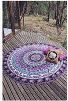 ingrosso copriletti in spiaggia-Nuova estate indiano mandala copriletto arazzo scialle appeso a parete bohemien etnico tiro bellezza decorazione della parete telo mare grande copriletto yoga stuoia